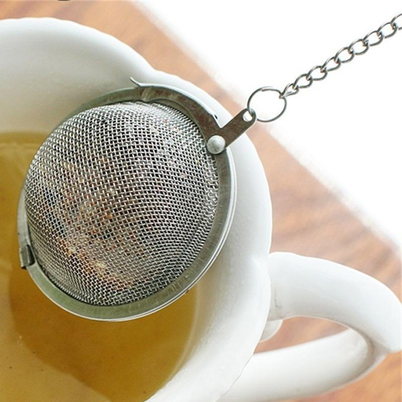 Creative Stainless Steel Tea Infuser Sphere Mesh Tea Brewing Device Ball Strainer Infuser Tea Filter Diffuser Strainers Kitchen Tool VT1610