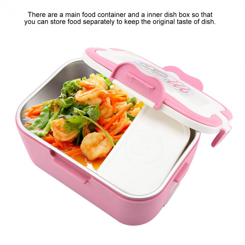 Car heating lunch box Multifunctional stainless steel insulated lunch box car electric lunch box16