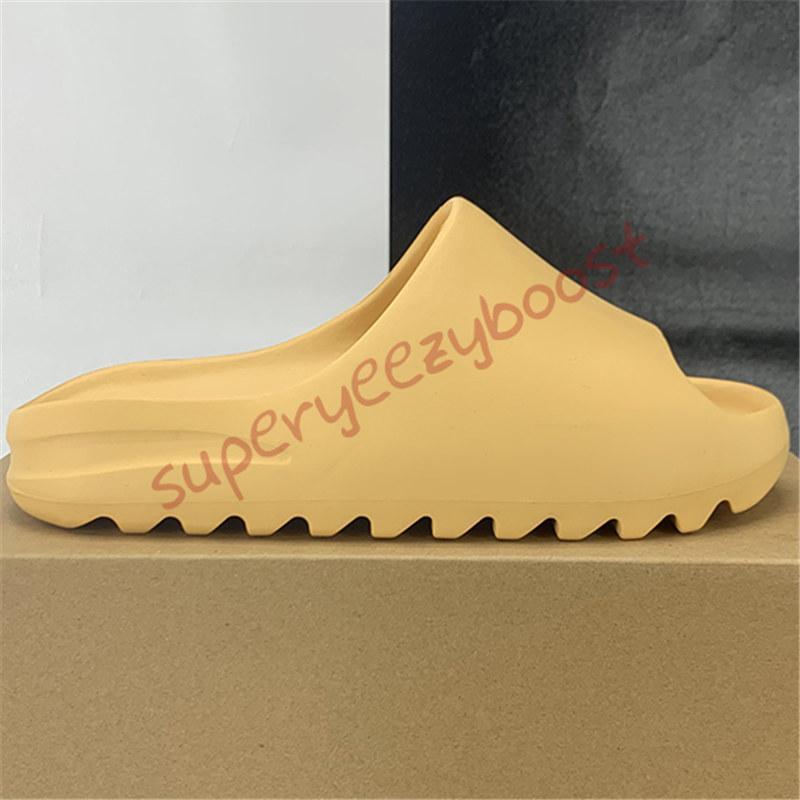 New foam runner kanye platform slipper sandal shoes resin triple black white bone Earth Brown mens women stylist slides sandals