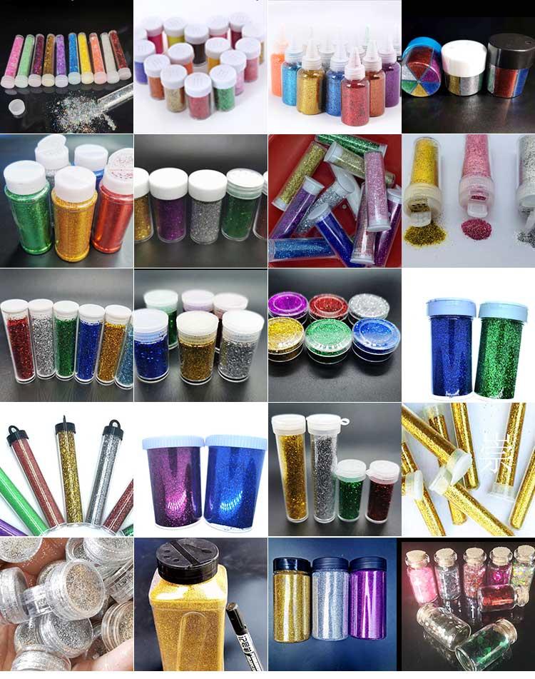 Factory wholesale glitter powder PET 24 colors bulk glitter 0.3mm 1 kilo packing glitter powder