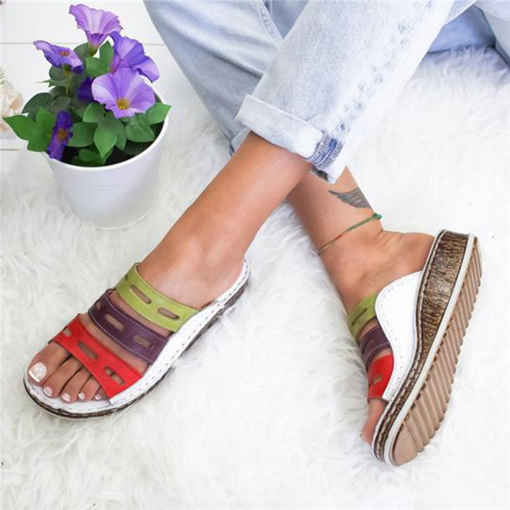 Summer-women-slippers-Rome-Retro-three-color-casual-shoes-Thick-bottom-wedge-open-toe-sandals-beach