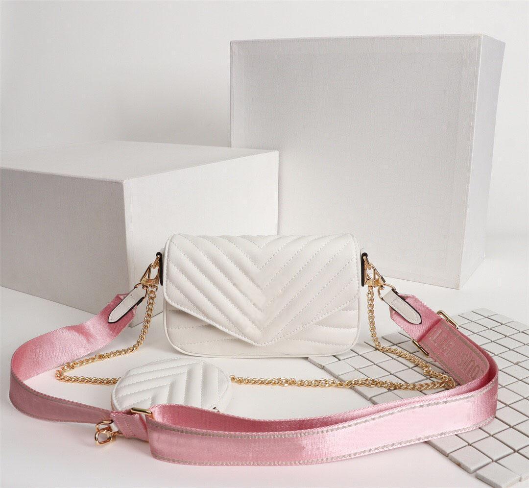 women luxurys designers bags 2020 latest M53936 ladies handbag leather wallet card fashion design messenger bag