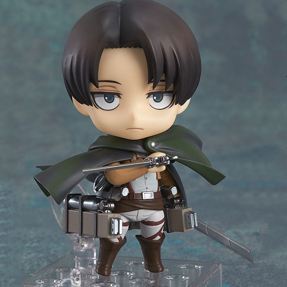 Attack on Titan Anime Figures Levi Ackerman Rivaille Ackerman PVC Cute Toy Keychain Action Figurine Model Collectible Doll Figma
