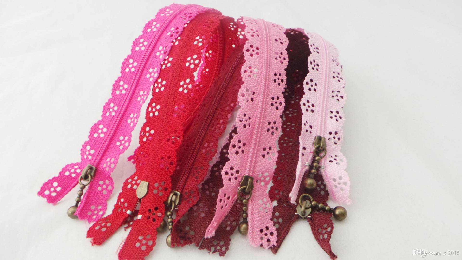 Fashion 20cm or 25cm zippers lace nylon finish zipper for sewing wedding dress etc fast shipping