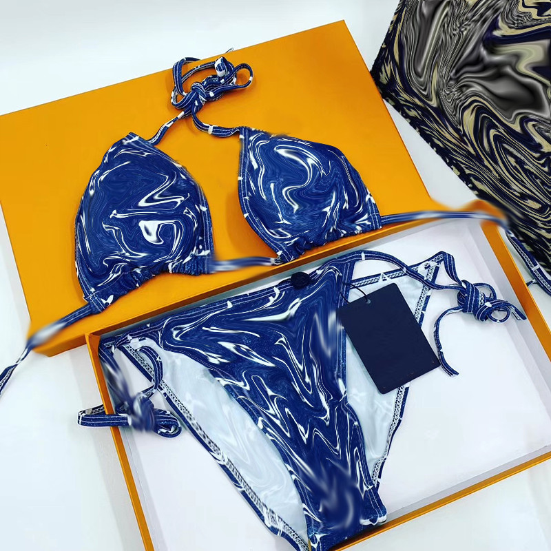Sexy Swimwear For Women Bikini Set Summer Beachwear Bathing Suit Ladies Sports Swimwear Halter Push Up Bikini Set