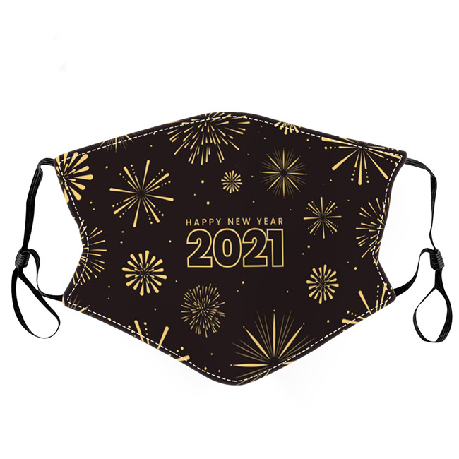 2021 designer mask washable Dust and haze adult mouth masks happy new year men women facemask