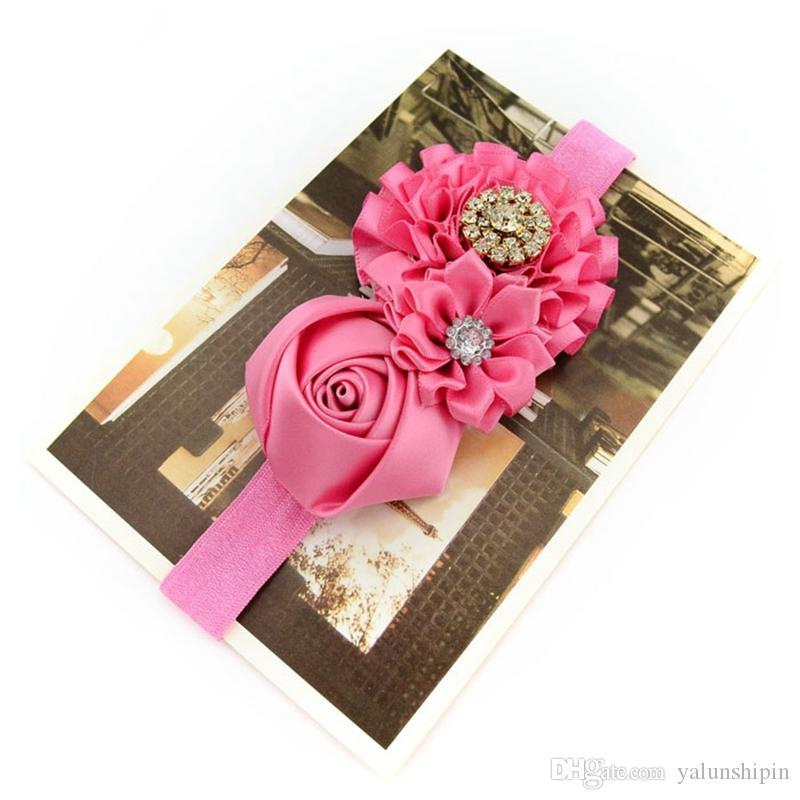 Cute Kid Pearl Headband Headwear Hat Hair Accessories Rose Bows Lace Hairband Flower Headdress 586