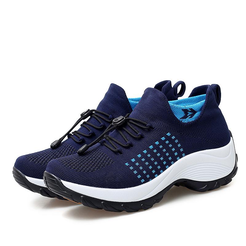 mesh breathable women casual shoes korean platform ladies comfortable sneakers high increasing female moccasins vulcanized woman (30)