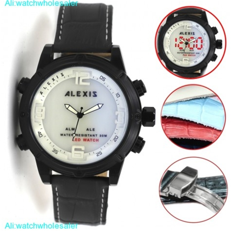 AW802F Alarm BackLight Water Resist Unisex Dual Time Alexis Analog Digital Watch