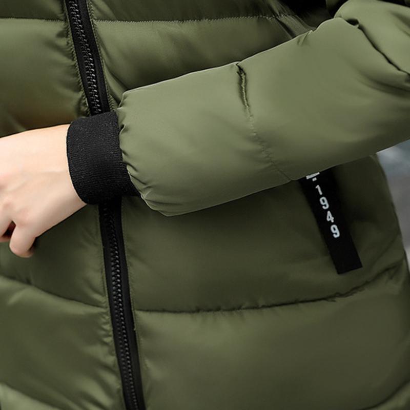STAINLIZARD Winter jacket women warm casual hooded long parkas women coat streetwear cotton white female jacket coat outwear new (16)