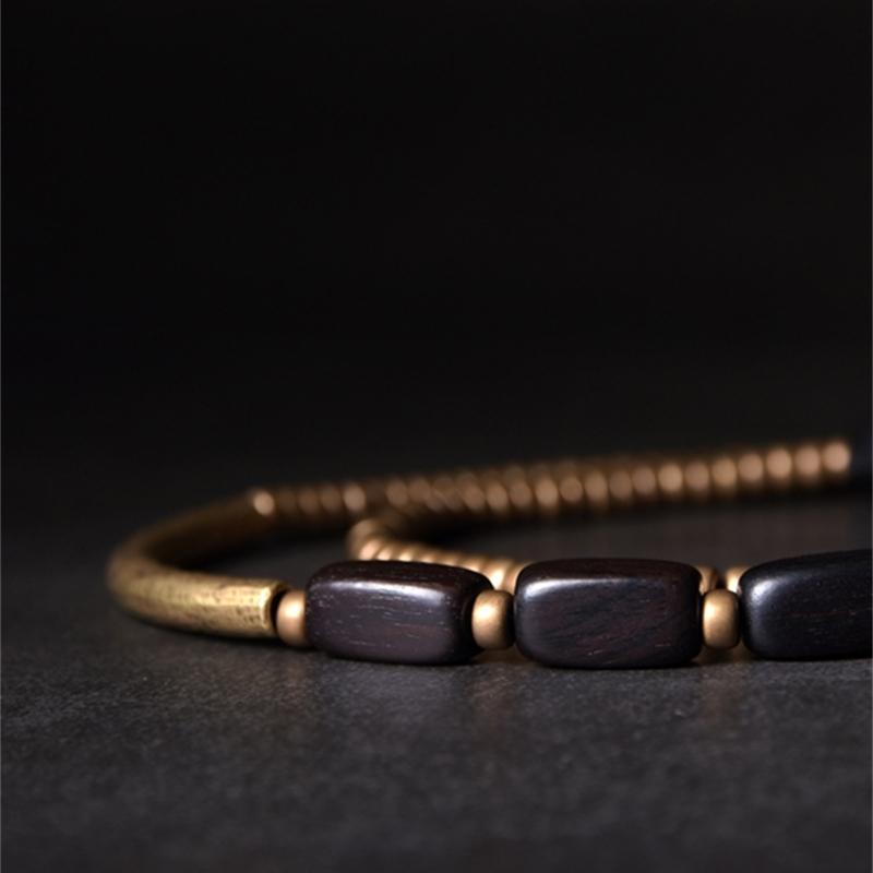 Multi-Layer-Handcrafted-Brass-Tube-Ebony-Strip-Beads-Bracelet-Black-Wood-Wristbands-For-Men-Women-Metal-Necklace-Wrist-Ornament (11)