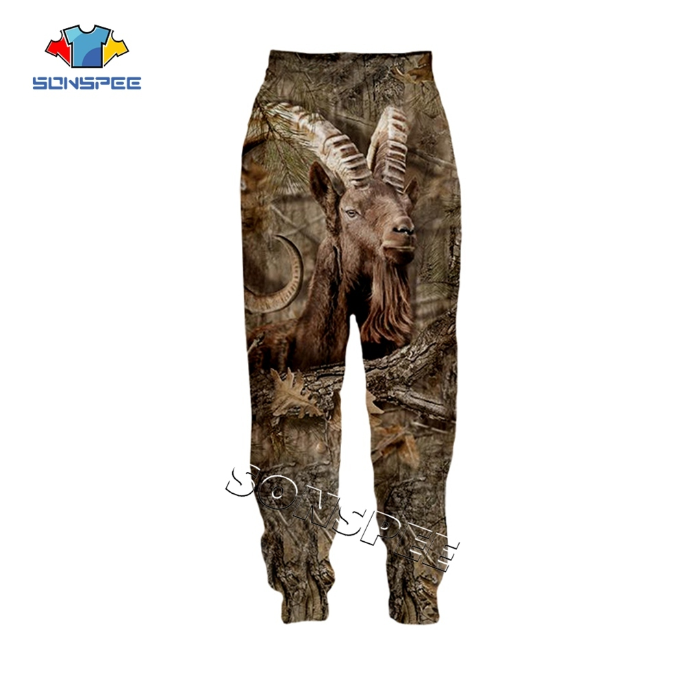 SONSPEE Animal Hunting Hunter 3D Print Harajuku Men Sweatpants Novelty Streetwear Women Fashion Casual Trousers Unisex Long Pant (9)