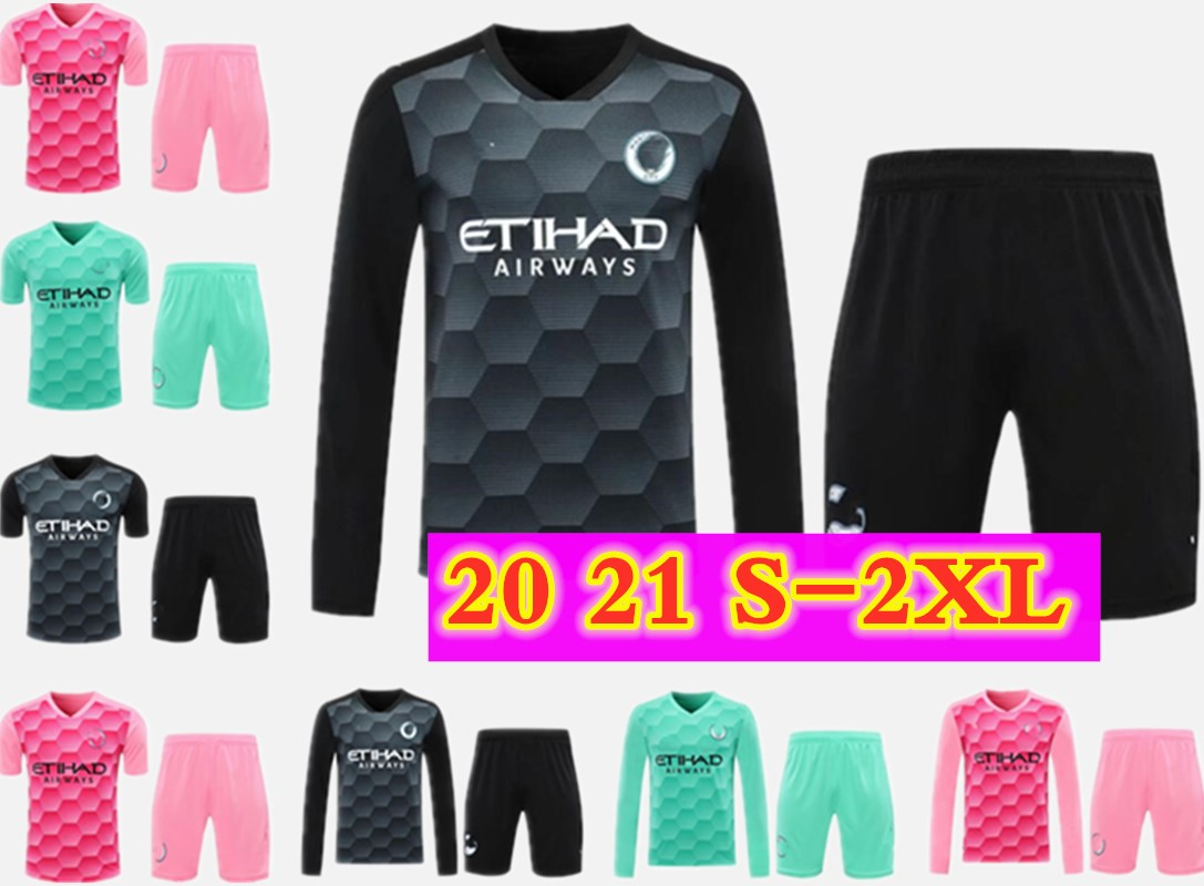 Goalkeeper Full 2020 2021 MAN KUN AGUERO City 20 21 soccer jerseys SILVA maillot EDERSON M. football shirt GRIMSHAW Men kits Camiseta