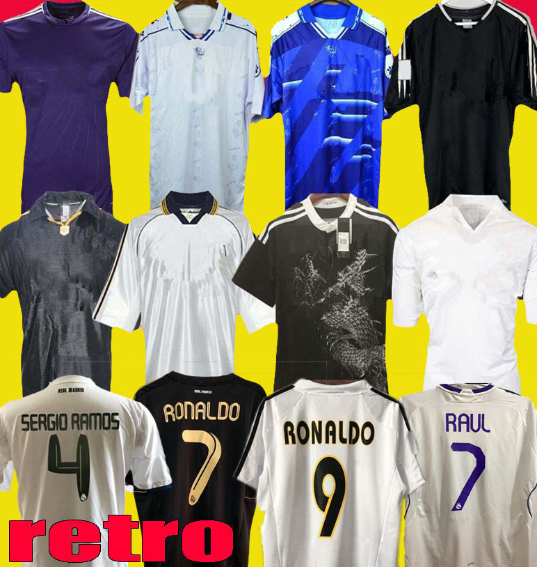 DHgate coupon: Retro Real Madrid 1999 2000 2004 2010 soccer jerseys RONALDO Beckham Retro 2012 06 07 2013 14 15 McManaman ZIDANE RAUL football shirts