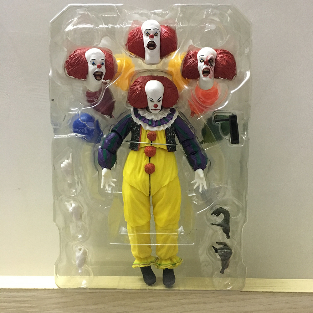 Horror Movie It Character NECA Joker With Balloons Pennywise Action Figure Model Toy for Christmas Halloween Gifts (000001)