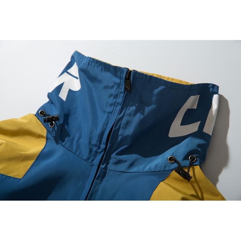Color Block Patchwork Half Zipper Pullover Jackets 4