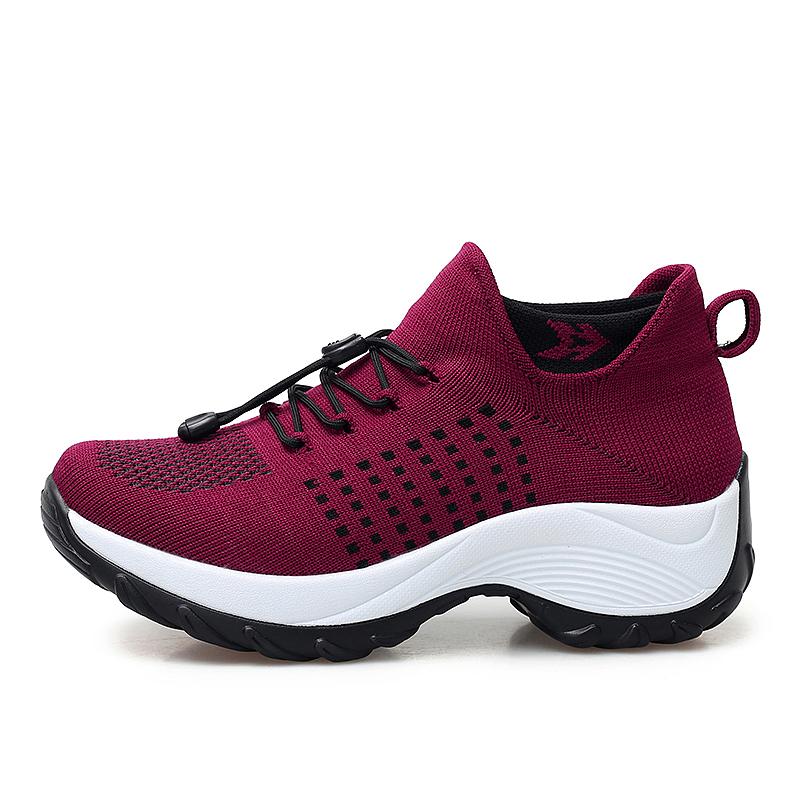 mesh breathable women casual shoes korean platform ladies comfortable sneakers high increasing female moccasins vulcanized woman (33)