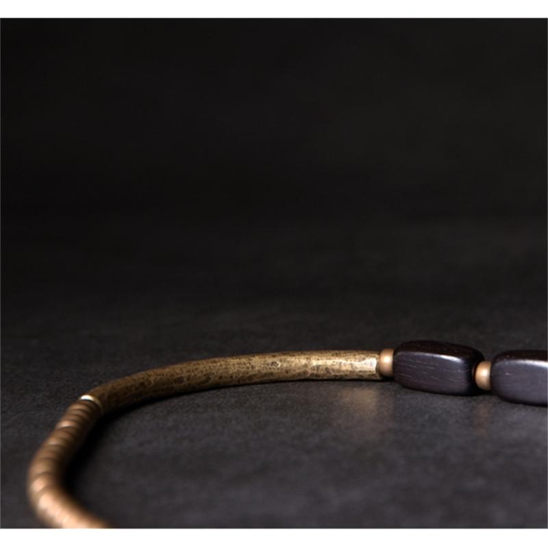 Multi-Layer-Handcrafted-Brass-Tube-Ebony-Strip-Beads-Bracelet-Black-Wood-Wristbands-For-Men-Women-Metal-Necklace-Wrist-Ornament (8)