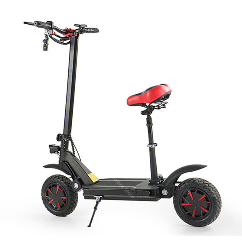 Electric Scooter With Seat Adults 2 Wheels Electric Scooters 1000W2000W3600W Speed 70KMH Ecorider E4-9 Foldable Electric Bike (27)