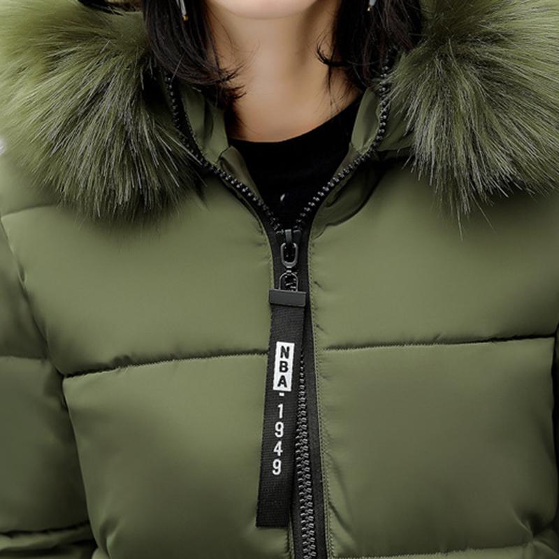 STAINLIZARD Winter jacket women warm casual hooded long parkas women coat streetwear cotton white female jacket coat outwear new (2)