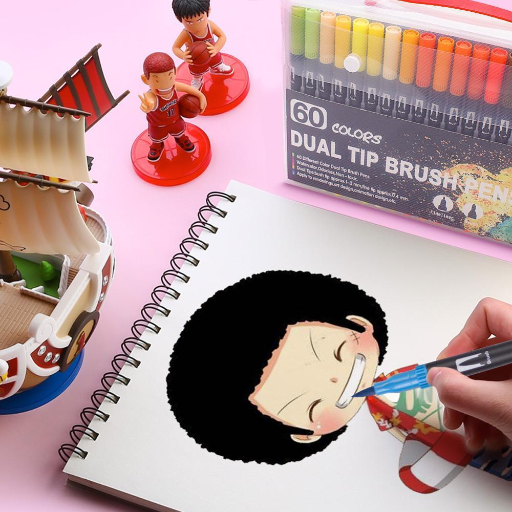 Watercolor-Pen-Brush-Markers-Dual-Tip-Fineliner-Drawing-for-bullet-Journal-Art-Markers-12-24-36 (4)