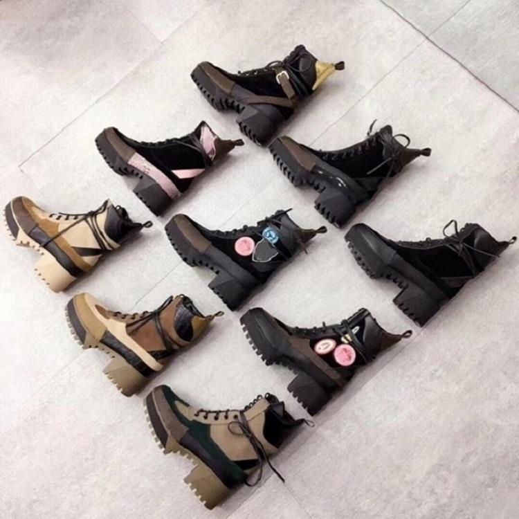 Fashion Top high quality leather women boot gear platform combat boots platform platform shoes cowhide motorcycle cowboy booties s02 PL04