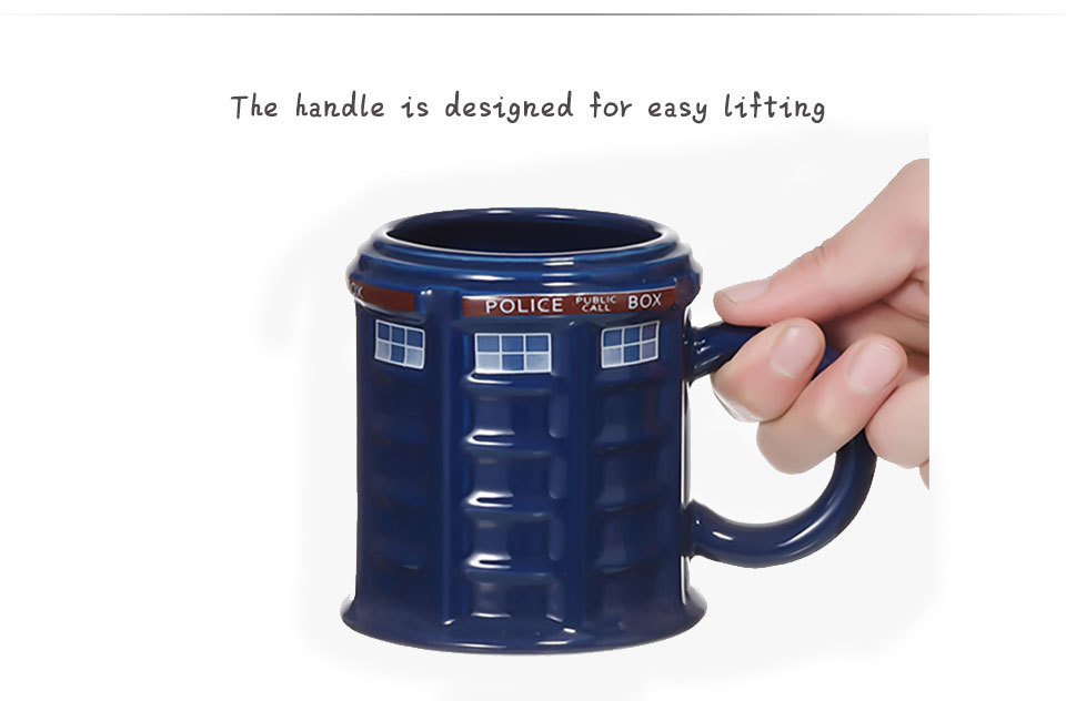 Doctor Who Tardis Police Box Ceramic Mug Cup With Lid Cover For Tea Coffee Mug Funny Creative Gift Christmas Presents Kid Men (5)