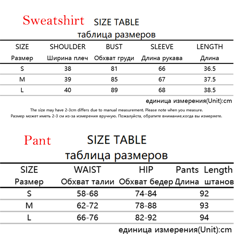 Rapwriter Size Table