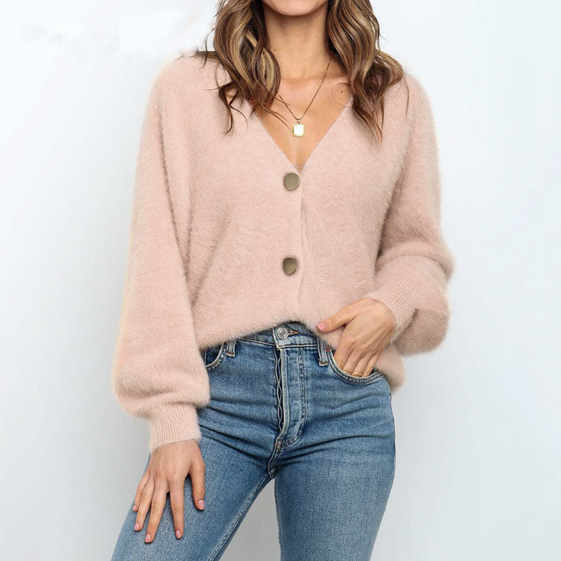 BerryGo-Casual-v-neck-short-women-knitted-sweater-Bat-sleeve-single-breasted-female-cardigan-Solid-c
