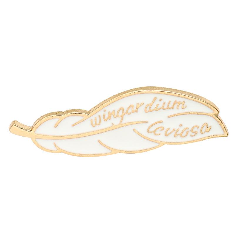 Magic Incantation Leaf Metal Brooches Pin Enamel Brooches Pins for Women Men Gift Fashion Jewlery