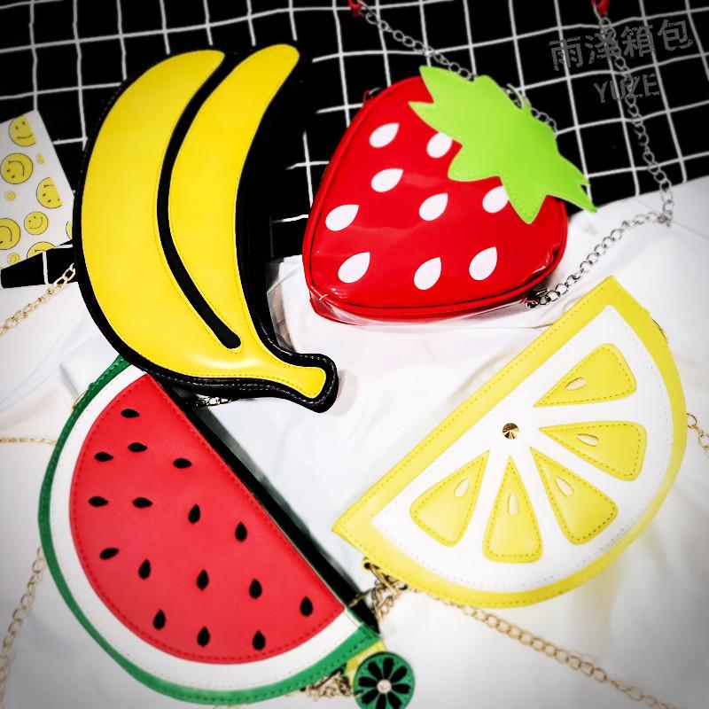 Watermelon Banana Shape Bag Womens Strawberry Handbags Crossbody Bags Shoulder Messenger Bag Mujer Handbag for Women