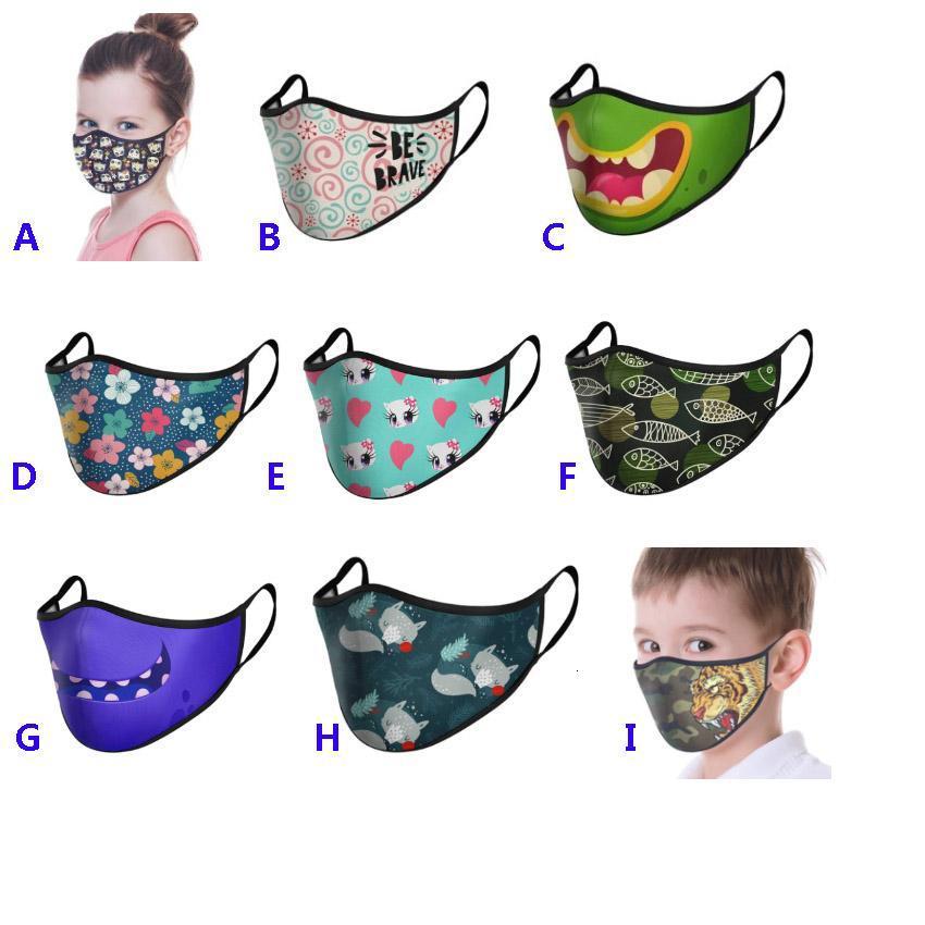 Fashion Face Mask Adult Kids Printed Mask Outdoor Protective Mouth Designer Mask For Children Flower Skull Leopard Animal Design HH9-3206
