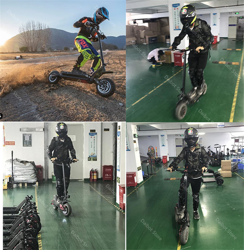 Kick Scooter For Adults Two Wheeled Electric Scooters 10 inch Powerful Folding Electric Scooter 60V 3600W 70KM Ecorider E4-9 (2)