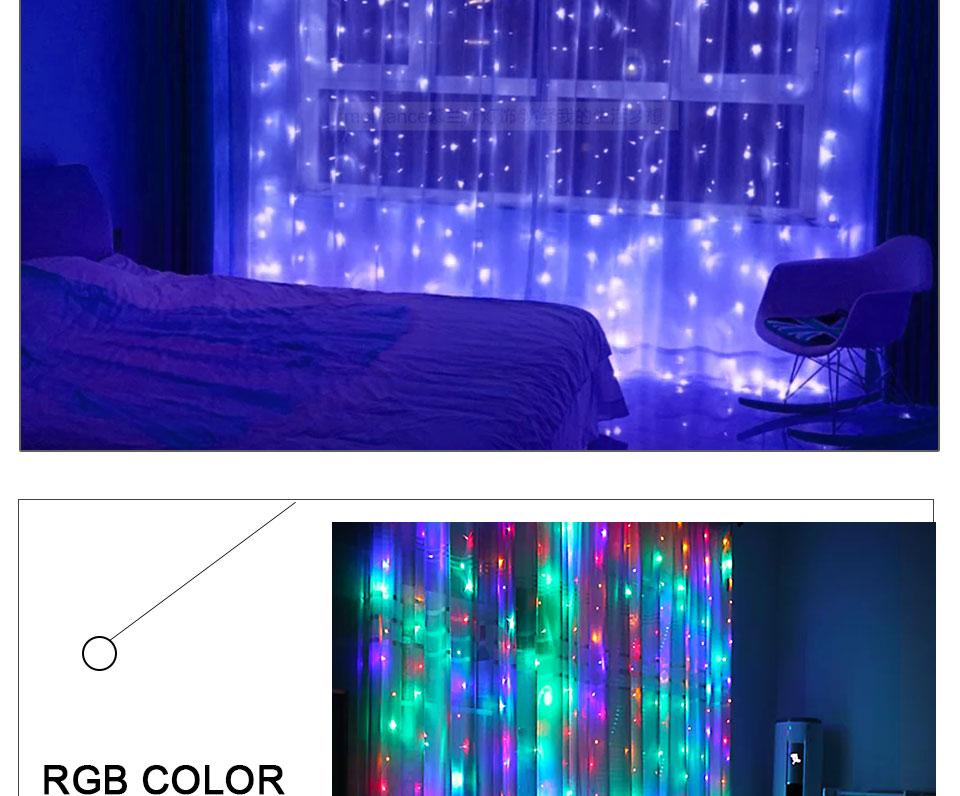 4.5M led wedding fairy string light christmas lights AC 110V 220V Star Led Curtain String halloween Light Decor For Home Party (18)