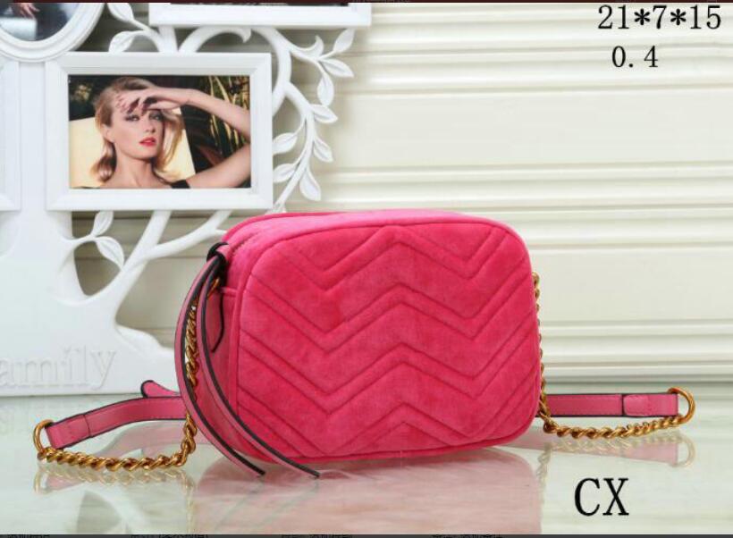 Top quality Marmont velvet bags handbags women shoulder bag handbags purses chain fashion crossbody bag CI4512
