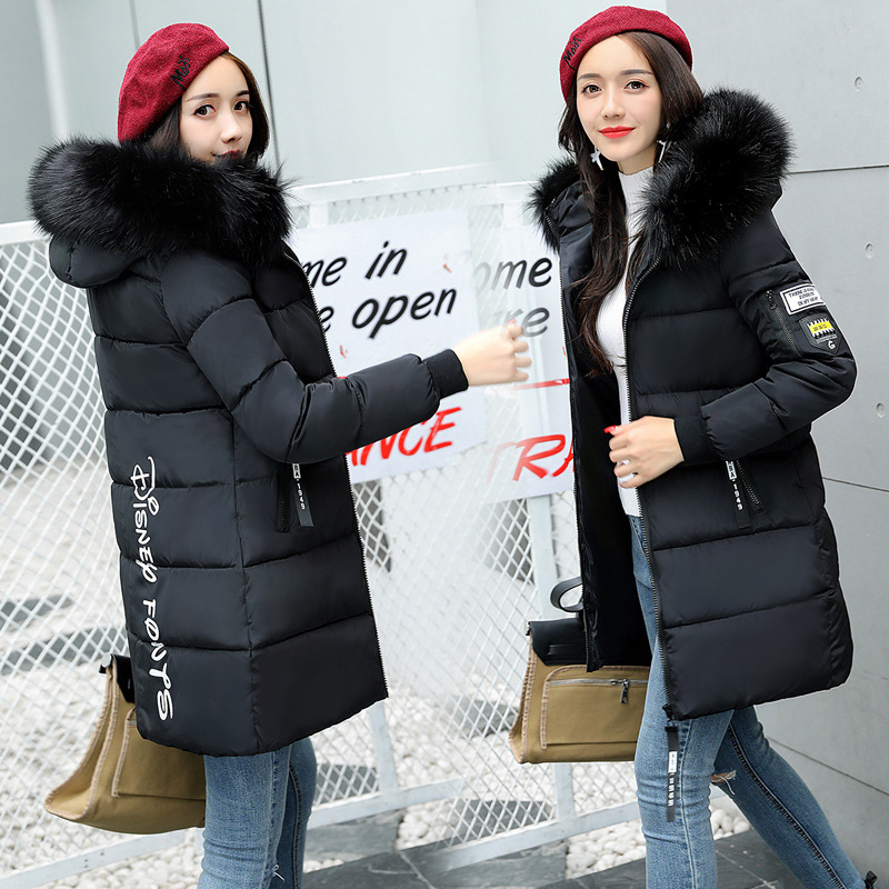 STAINLIZARD Winter jacket women warm casual hooded long parkas women coat streetwear cotton white female jacket coat outwear new (6)
