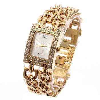 G&D Women Quartz Wristwatches Gold Stainless Steel Top Brand Luxury Watch Analog Dress Relogio Feminino Reloj Femme Clock Gifts