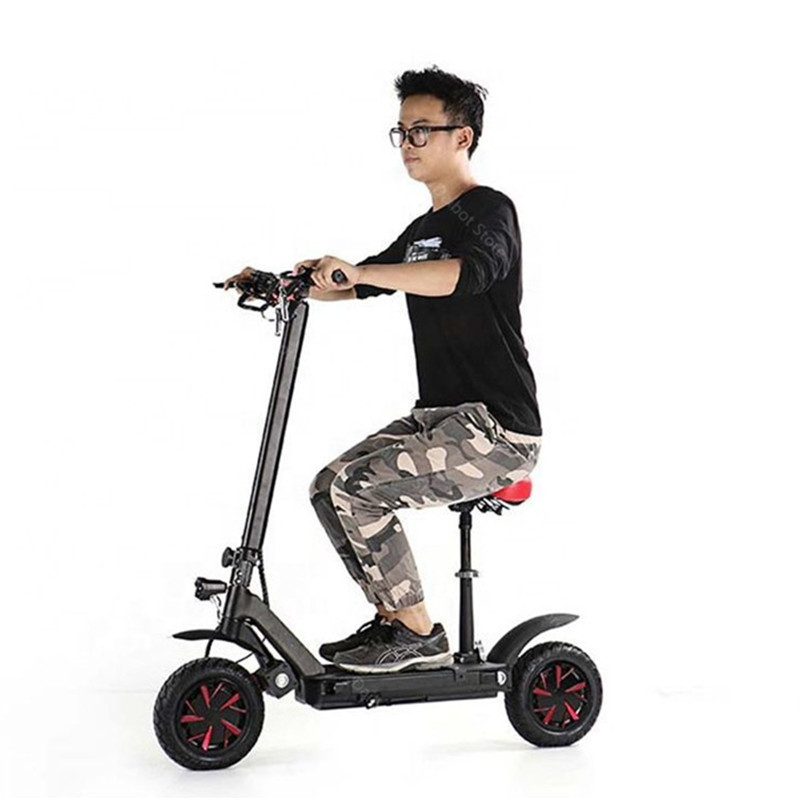Electric Scooter With Seat Adults 2 Wheels Electric Scooters 1000W2000W3600W Speed 70KMH Ecorider E4-9 Foldable Electric Bike (26)