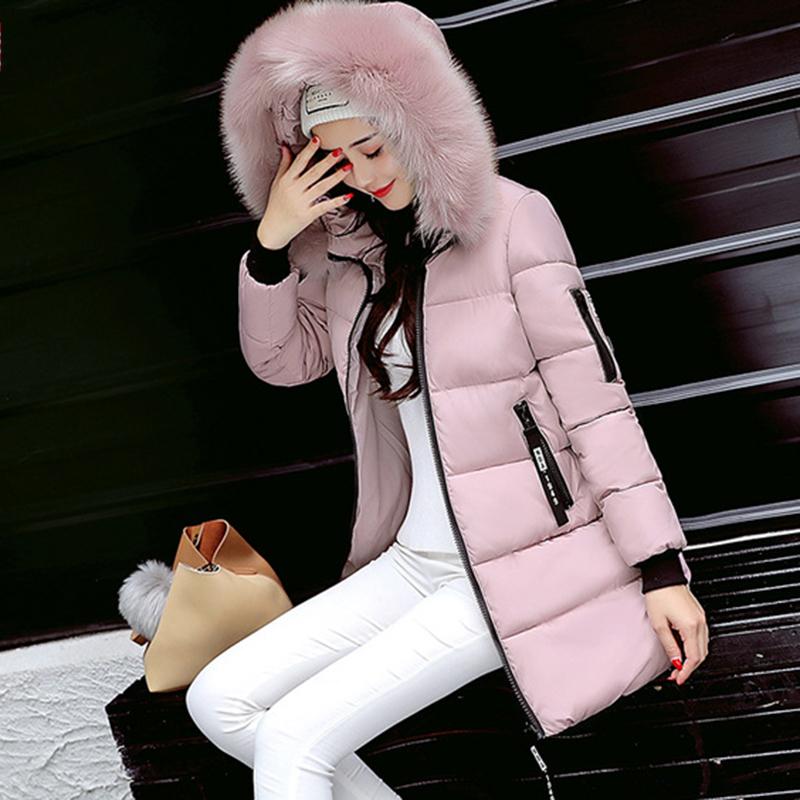 STAINLIZARD Winter jacket women warm casual hooded long parkas women coat streetwear cotton white female jacket coat outwear new (20)