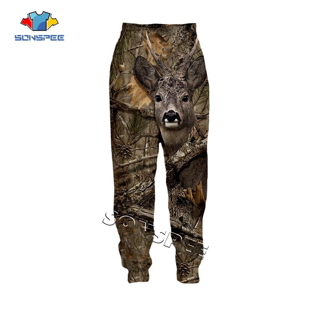 SONSPEE Animal Hunting Hunter 3D Print Harajuku Men Sweatpants Novelty Streetwear Women Fashion Casual Trousers Unisex Long Pant (3)