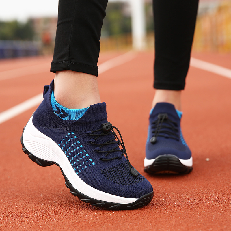 mesh breathable women casual shoes korean platform ladies comfortable sneakers high increasing female moccasins vulcanized woman (2)