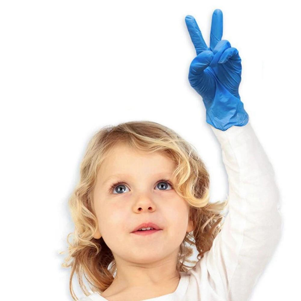 Disposable Children Food-grade Latex Nitrile Gloves Mecical Protective Glove For Catering Home School