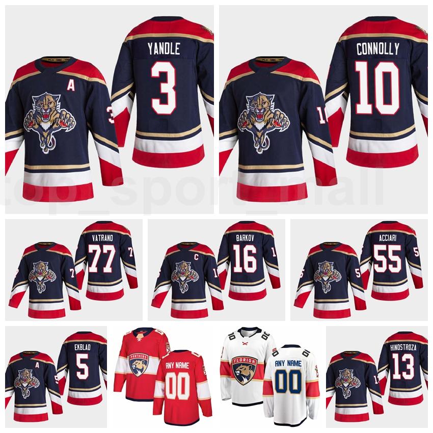 Men Florida Panthers Reverse Retro Jersey Ice Hockey 3 Keith Yandle 10 Brett Connolly 5 Aaron Ekblad 77 Frank Vatrano 55 Noel Acciari