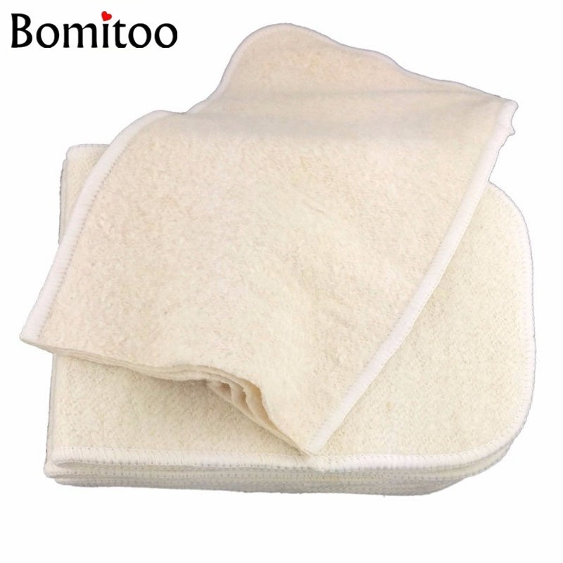 Bomitoo-10-Pcs-Washable-Reusable-Baby-Cloth-Diaper-Insert-Hemp-Cotton-Charcoal-Bamboo-Nappy-Liner