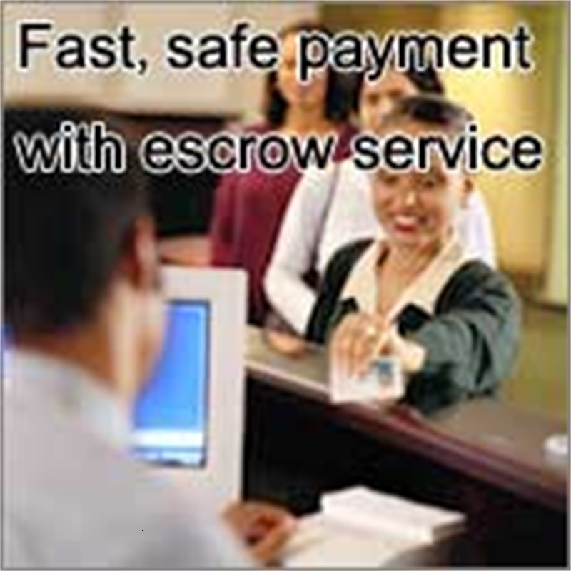 Fast, safe payment with escrow service