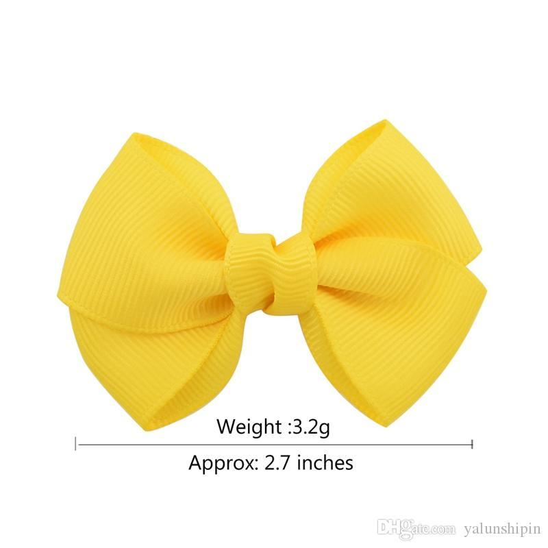 2.7 Inch kids Boutique Ribbon Bows With Clip Hair Accessories For Baby Girls Children Hair Pins Hair Clip 807