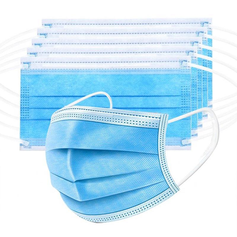 Free DHL Shipping!Disposable Face Masks 3 Layer Ear-loop Dust Mouth Masks Cover 3-Ply Non, applicable to the salon, family use.