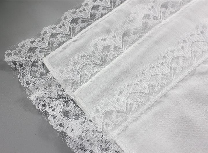 25cm White Lace Thin Handkerchief 100% Cotton Towel Woman Wedding Gift Party Decoration Cloth Napkin DIY Plain Blank Handkerchief DBC BH2669