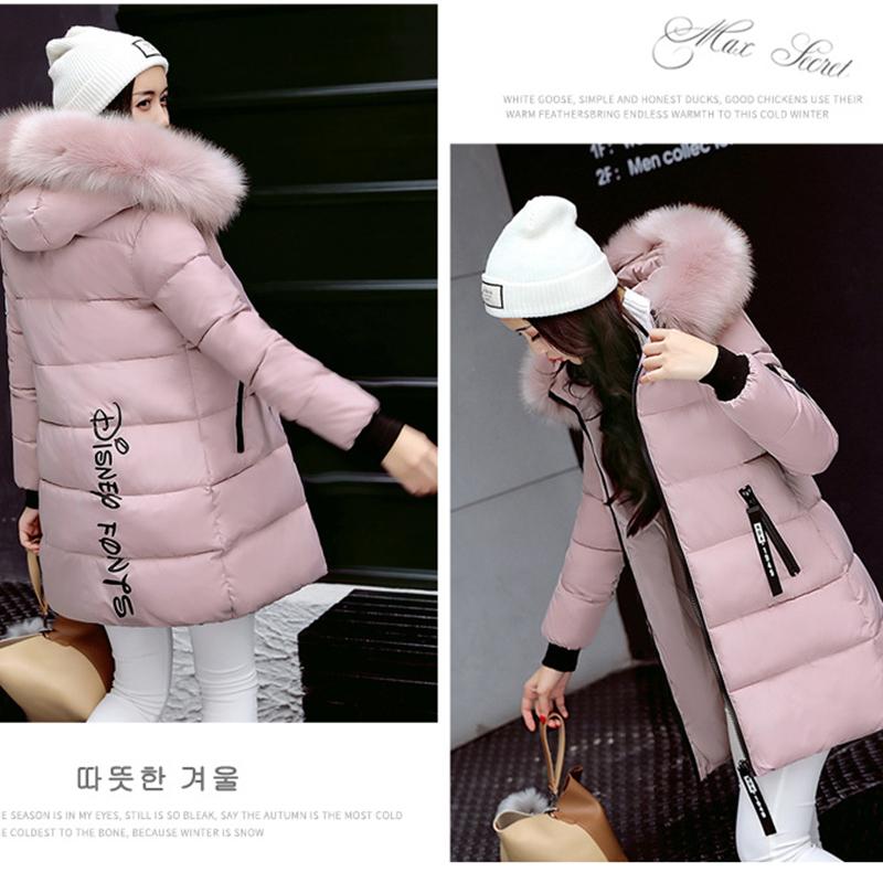 STAINLIZARD Winter jacket women warm casual hooded long parkas women coat streetwear cotton white female jacket coat outwear new (32)