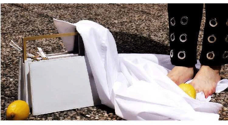Fashion Metal Handle Box Type Women Handbags Organ Design Pu Women